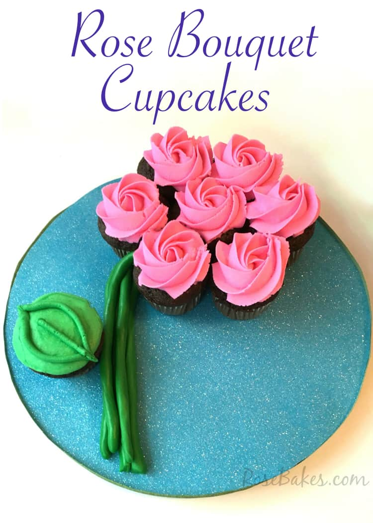 How to make a flower cupcake cake rose bakes rose bouquet cupcake tutorial izmirmasajfo