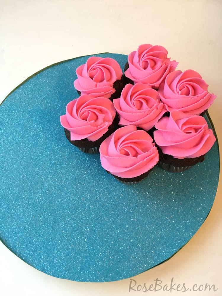 How to Make a Flower Cupcake Cake - Rose Bakes