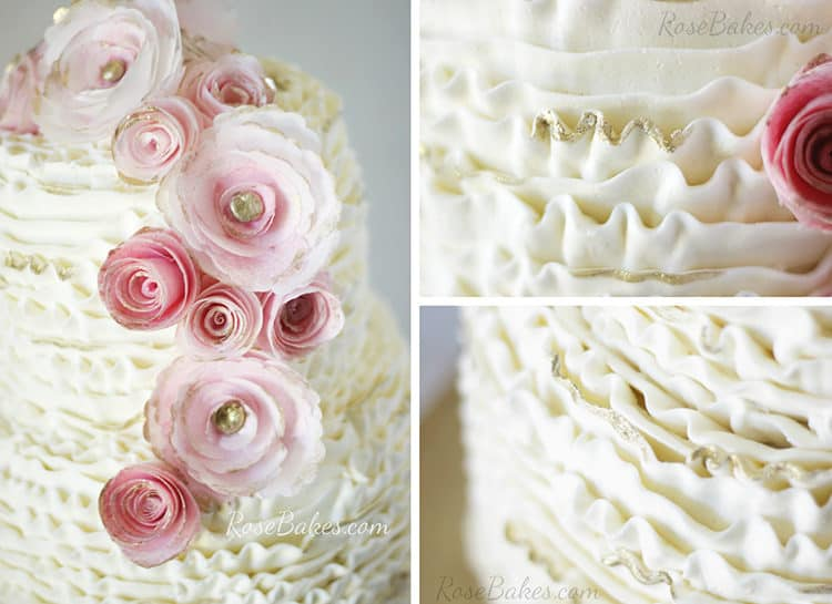 Ruffles and Flowers with Gold Tips