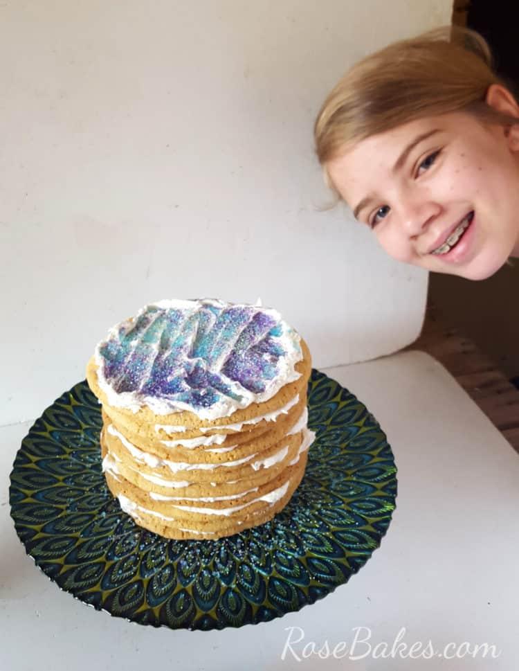 Sarah with her Sugar Cookie Cake