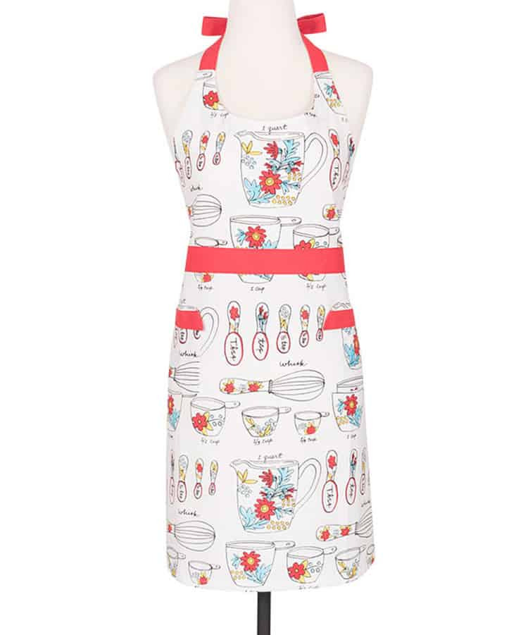 White and Red Whisk Apron