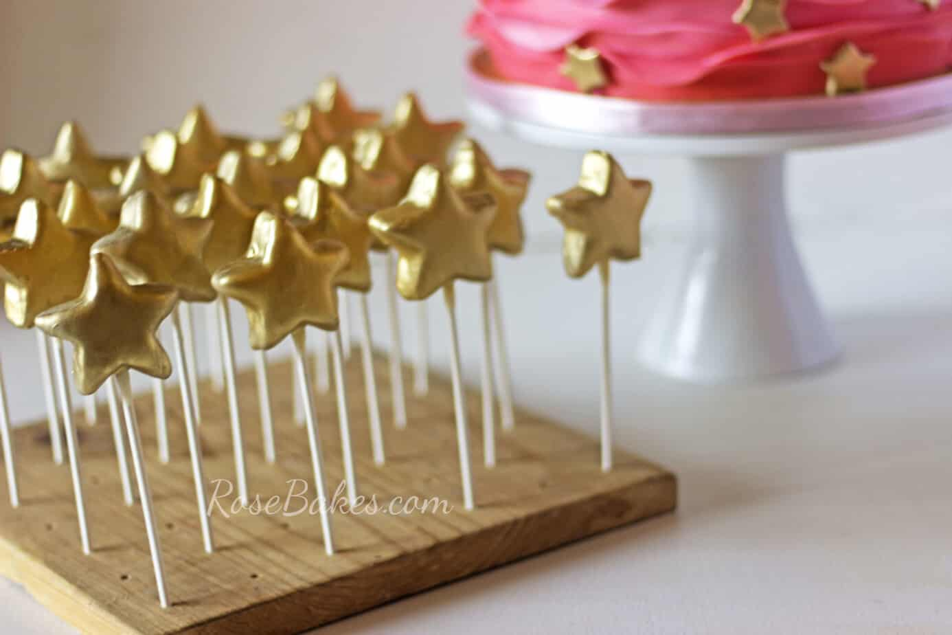 Gold Star Cake Pops - Twinkle Twinkle Little Star