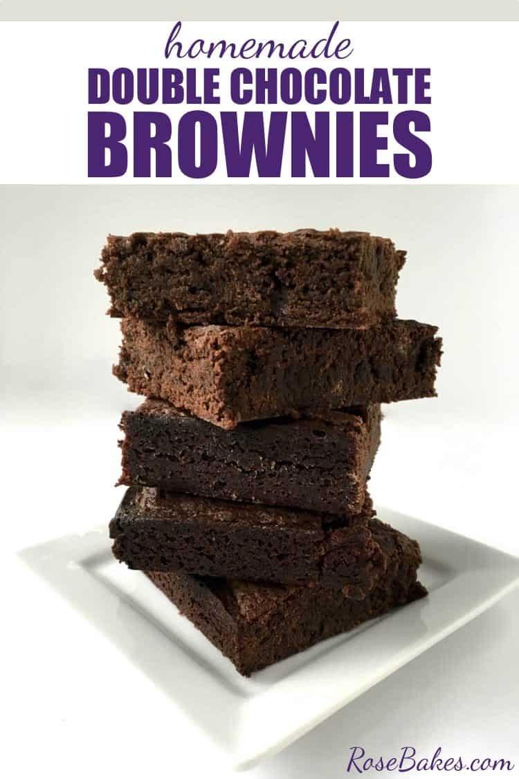 Homemade Double Chocolate Brownies