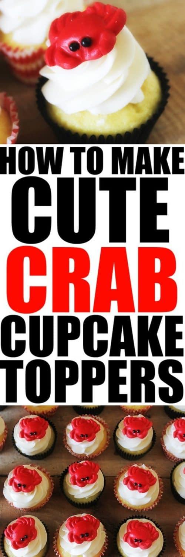 How to Make Cute Crab Cupcake Toppers at RoseBakes