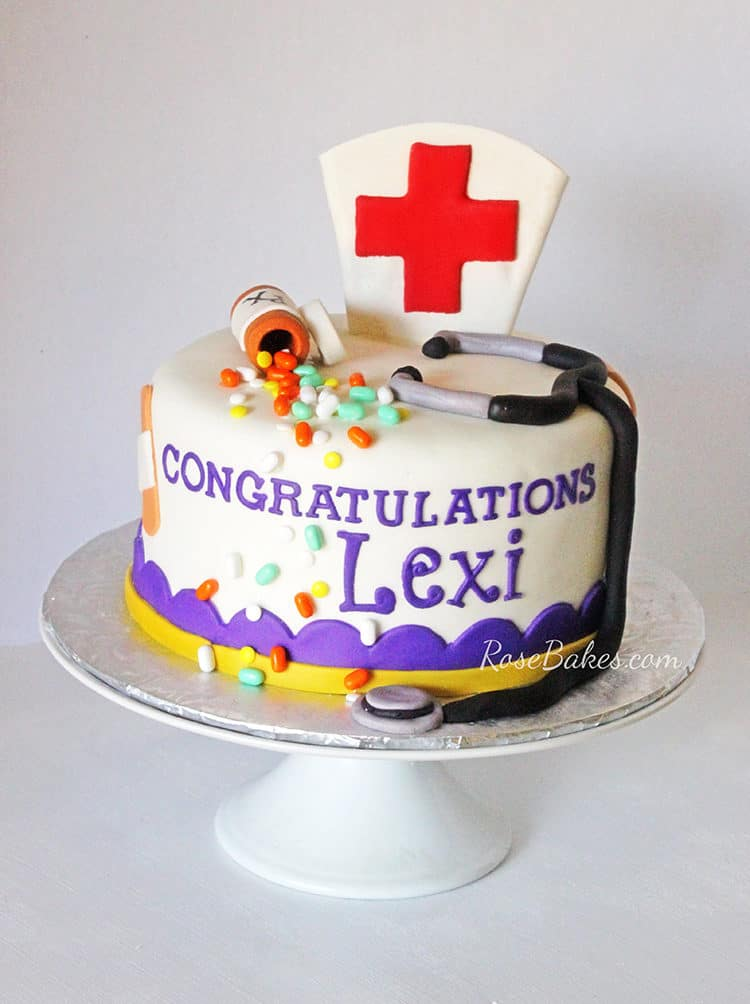 LSU Nursing School Graduation Cake