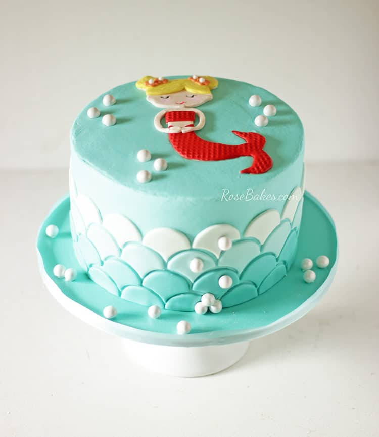 Small Images Of Birthday Cake : A Sweet Little Mermaid Cake - Rose Bakes