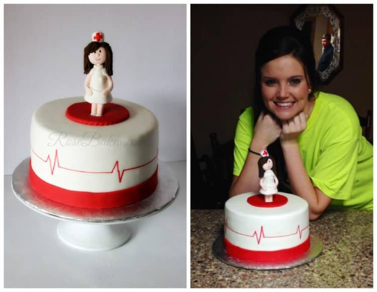 Nursing Cake with Customer