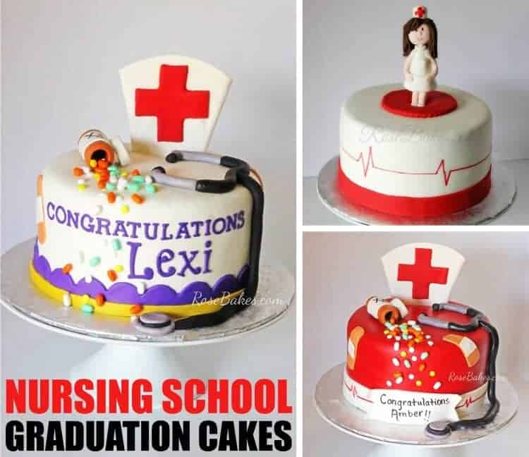Nursing School Graduation Cakes