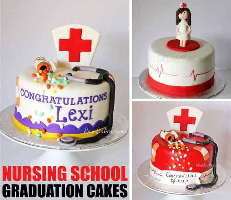 Nursing School Graduation Cakes