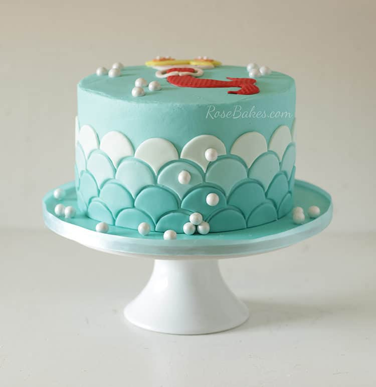 A Sweet Little Mermaid Cake - Rose Bakes