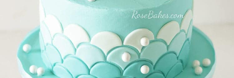 Ombre Waves Mermaid Cake