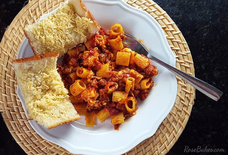 Spicy Sausage & Cheese Rigatoni Recipe