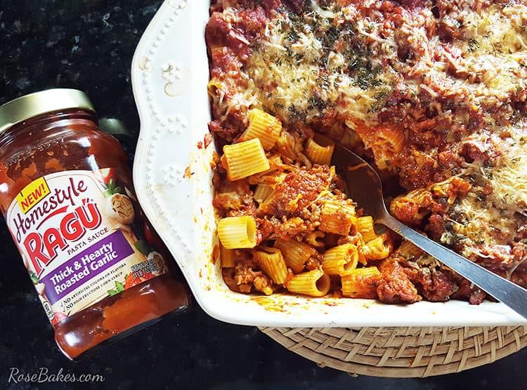 Spicy Sausage & Pasta Bake