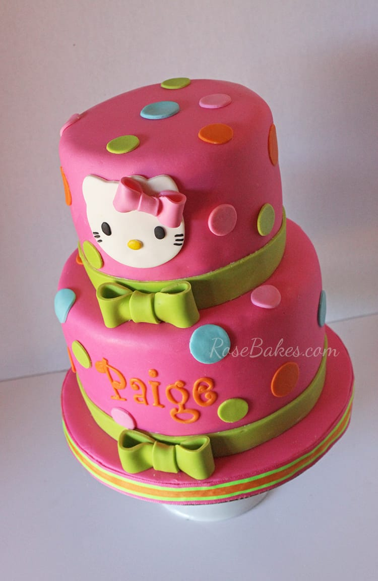 Hello Kitty Chocolate Cake