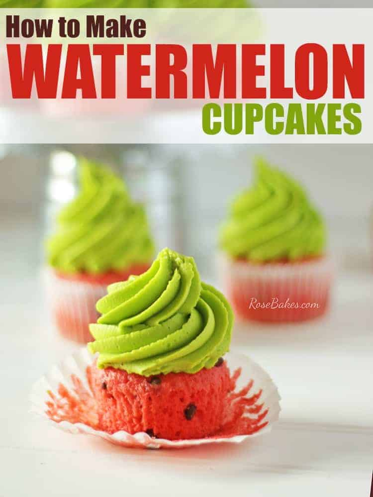 How to Make Watermelon Cupcakes by RoseBakes