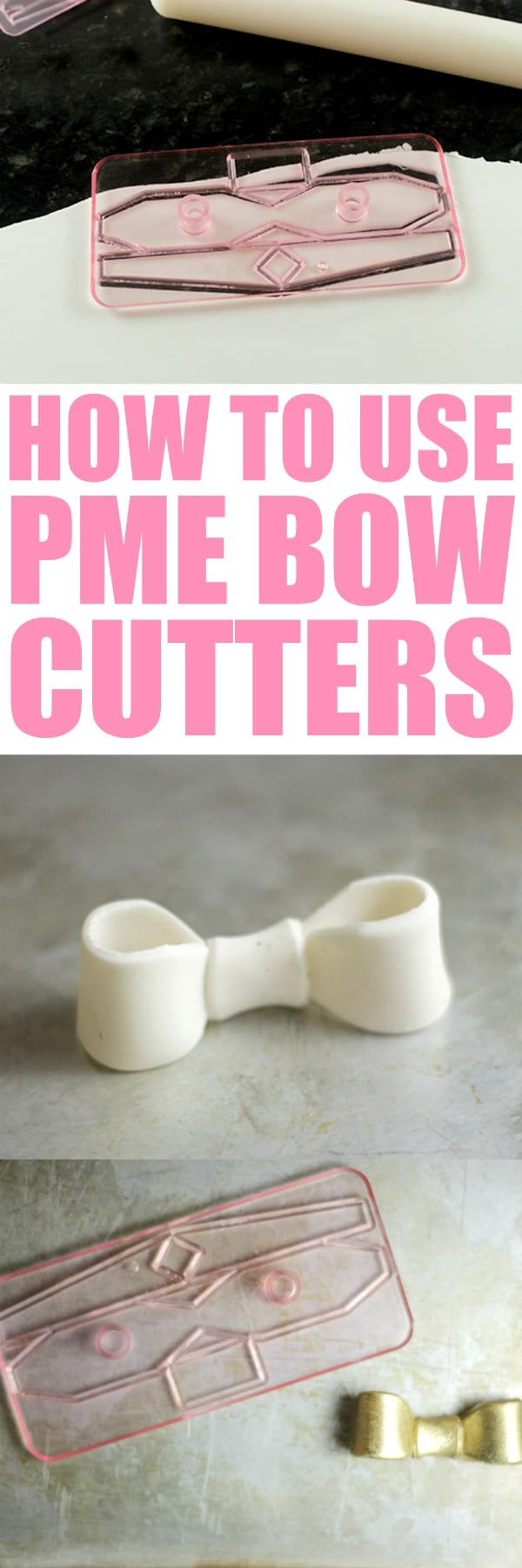 How to Use PME Bow Cutters by RoseBakes