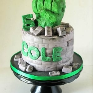 Hulk Fist Cake by RoseBakes