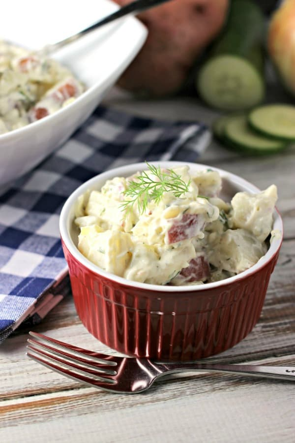 Renee's Kitchen Adventures - Creamy Dill and Cucumber Potato Salad