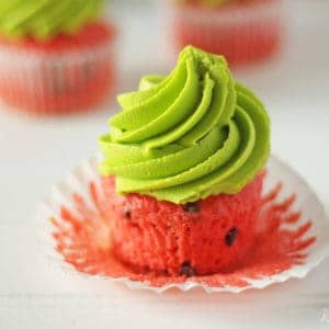 Watermelon Cupcakes (Chocolate Chip Cupcakes)