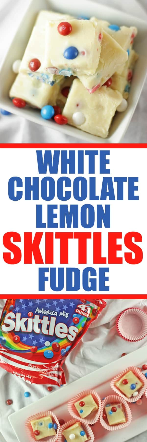 White Chocolate Lemon Skittles Fudge Recipe RoseBakes #ad #tastetherainbow #SkittlesAmericaMix #CollectiveBias