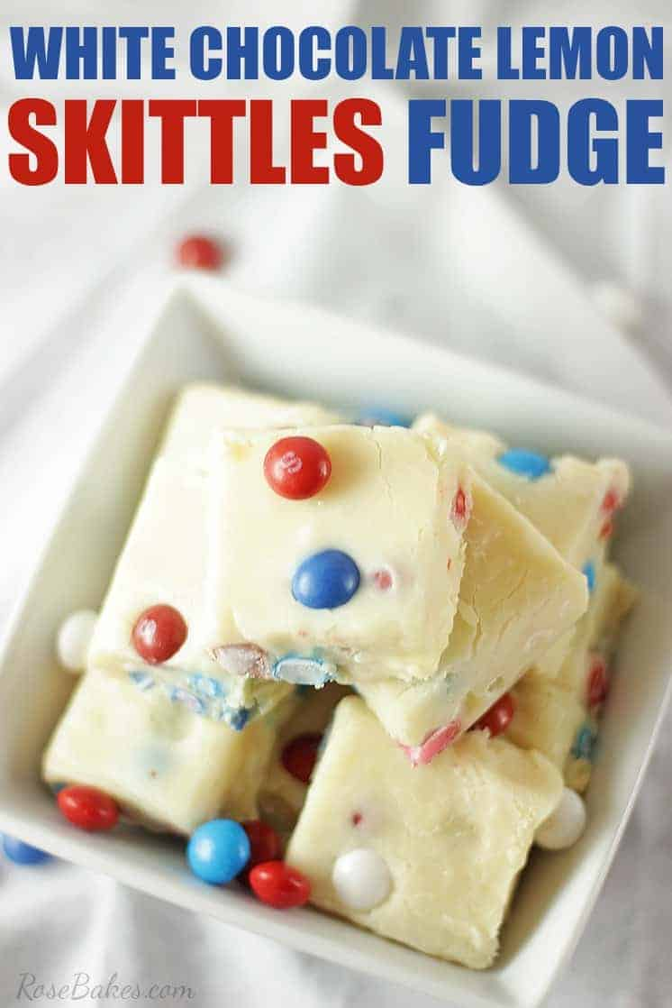 White Chocolate Lemon Skittles Fudge Recipe