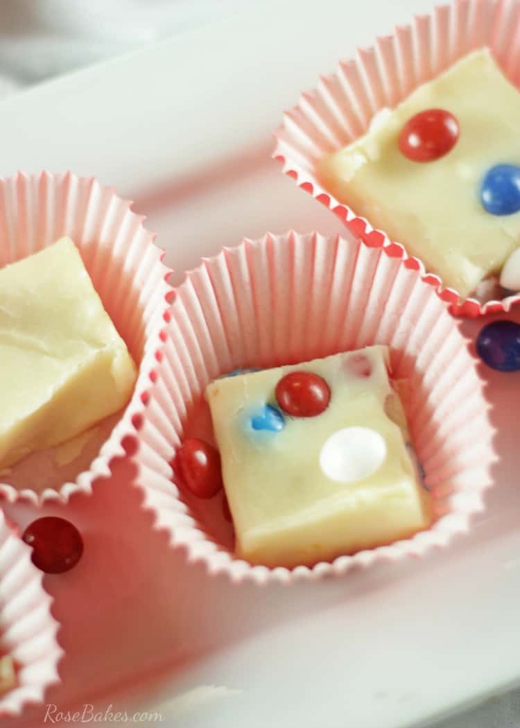 White Chocolate Lemon Skittles Fudge