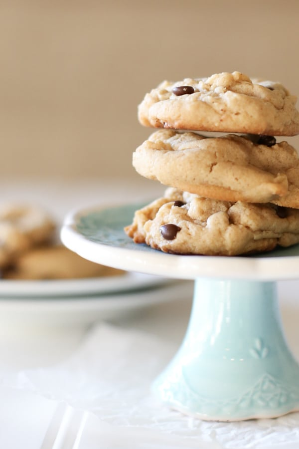 peanut butter chocolate chip cookies | Kristine in Between