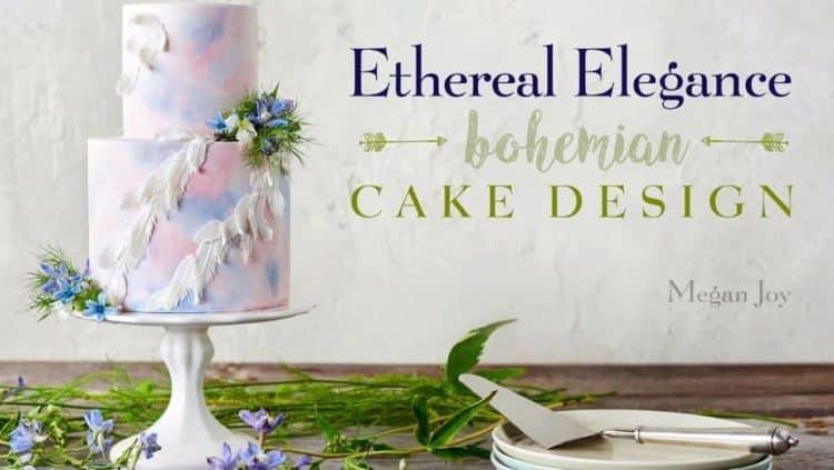 Ethereal Elegance Bohemian Cake Design