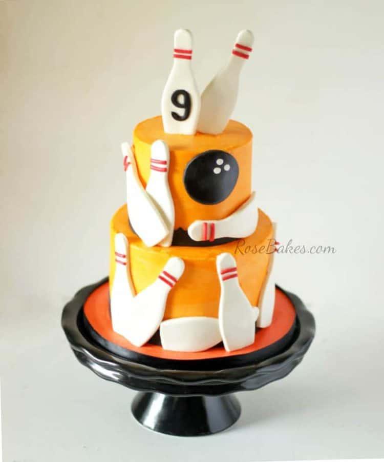 Orange Bowling Cake