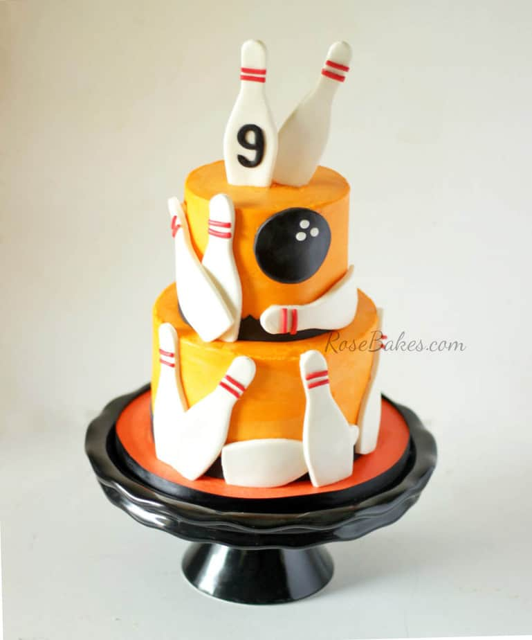 Cake Decorating With An Orange