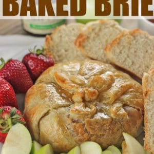 Strawberry Jalapeno Baked Brie with Honey by RoseBakes