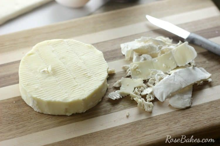 Trimming Rind from Brie