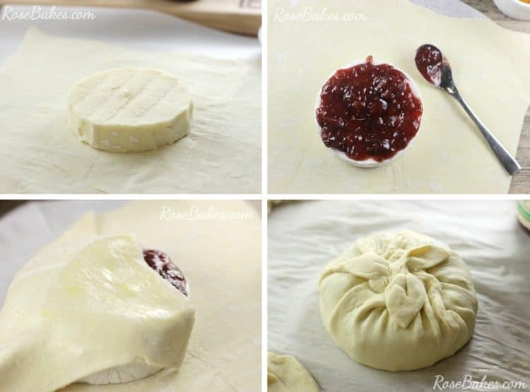 Wrapping Brie in Puff Pastry with Fruit Spread
