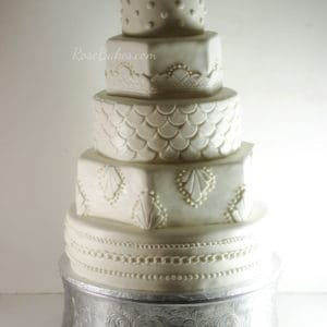20's Art Deco Wedding Cake by Rose Bakes