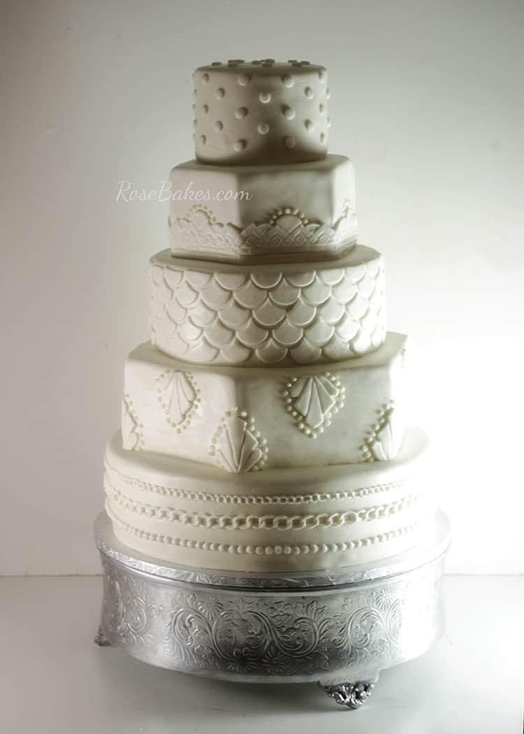 20's Art Deco Wedding Cake by Rose Bakes