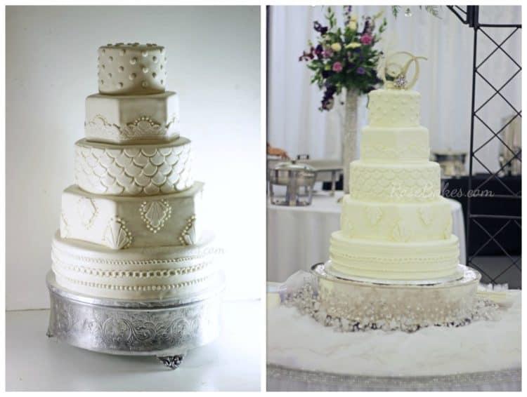 20 S Themed Art Deco Wedding Cake