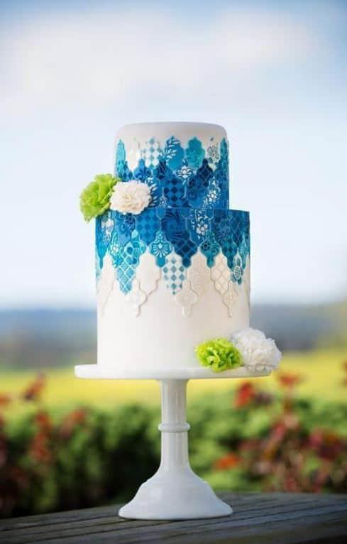 Blue Tile Cake