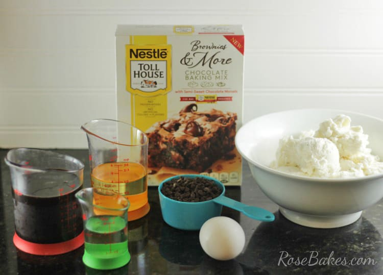 Chocolate Overload Brownie Sundae Ingredients