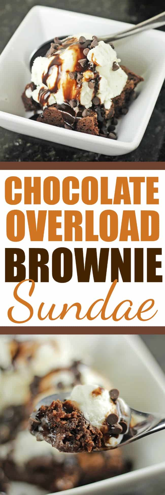 Chocolate Overload Brownie Sundae RoseBakes #ad #mixinmoments #CollectiveBias