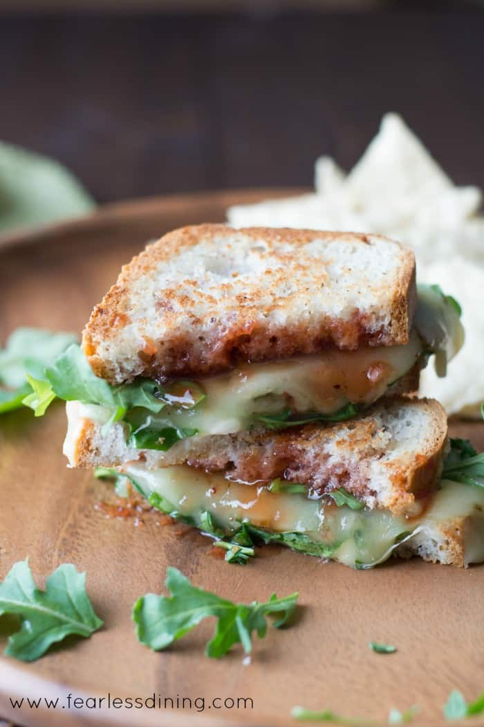 Pepper Jack Grilled Cheese Sandwich with Arugula and Strawberry Hot ...