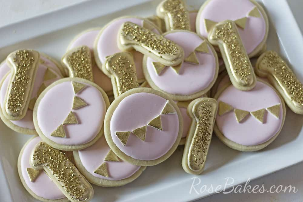 Pink & Gold Cookies