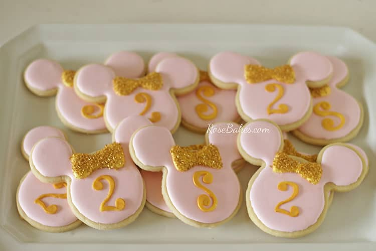 Pink & Gold Minnie Mouse Cookies