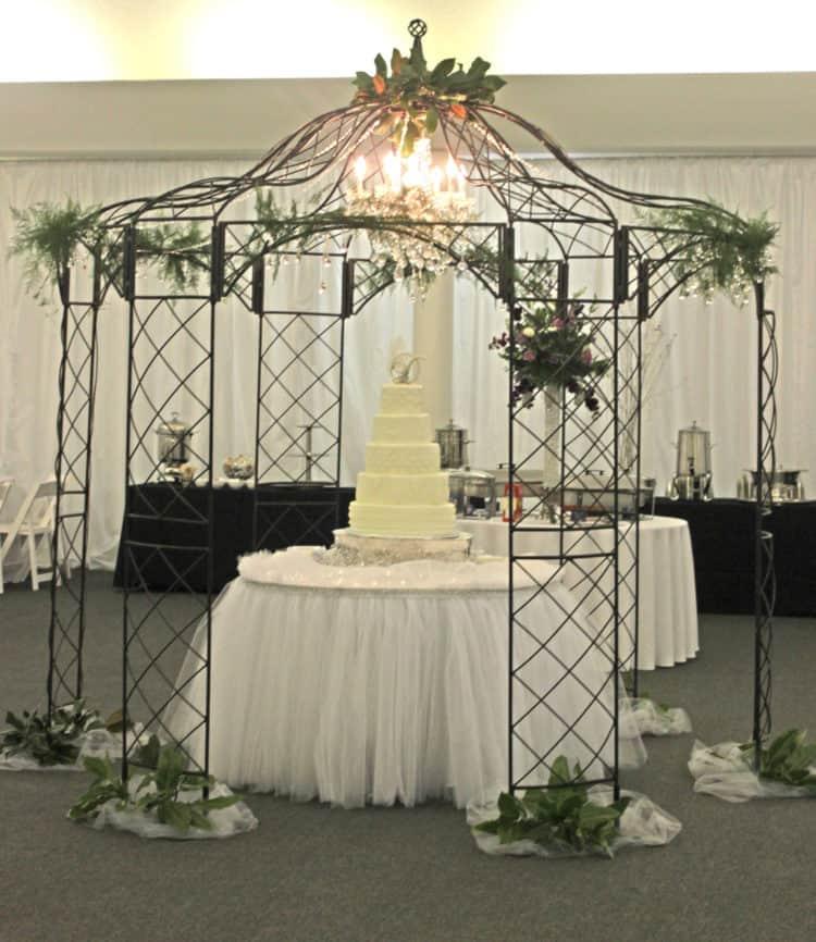 Wedding Cake Under a Gazebo