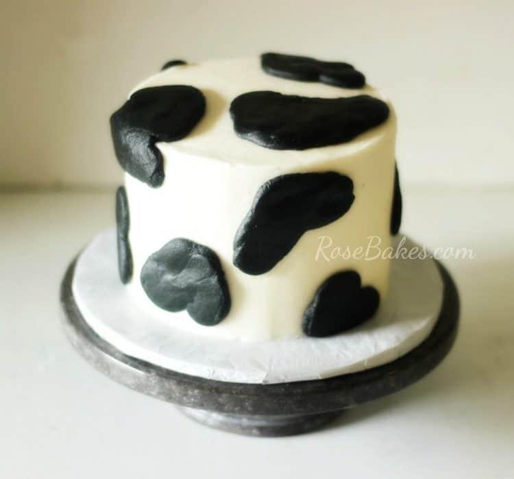 Cow Print Smash Cake