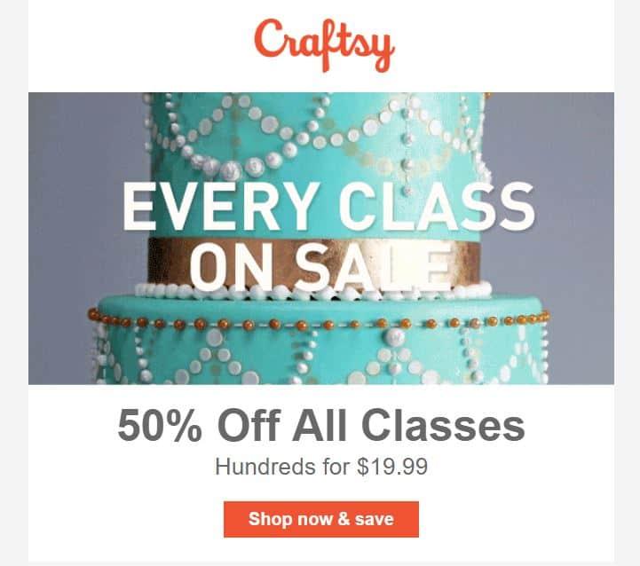 Craftsy Sale 50%