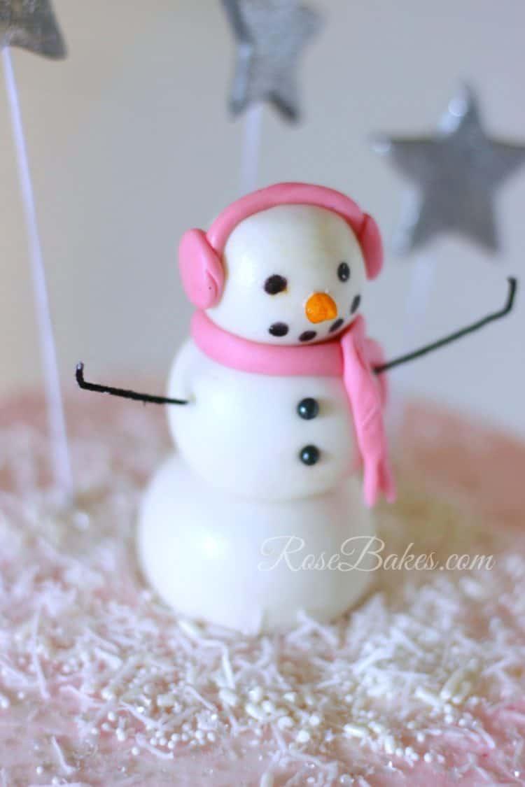 fondant-snowman