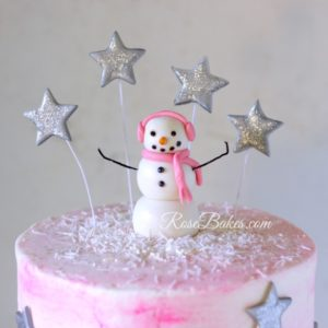 fondant-snowman-and-stars-cake-topper