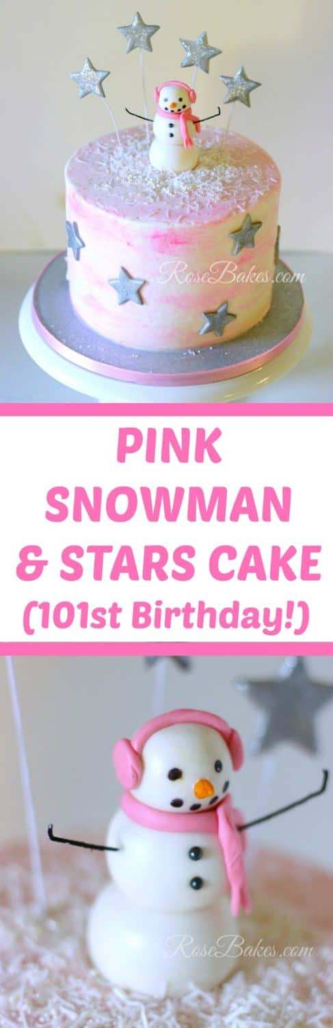 pink-snowman-stars-cake-by-rose-bakes