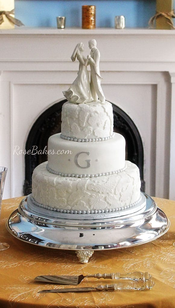 silver-lace-pearls-wedding-cake-by-rose-bakers
