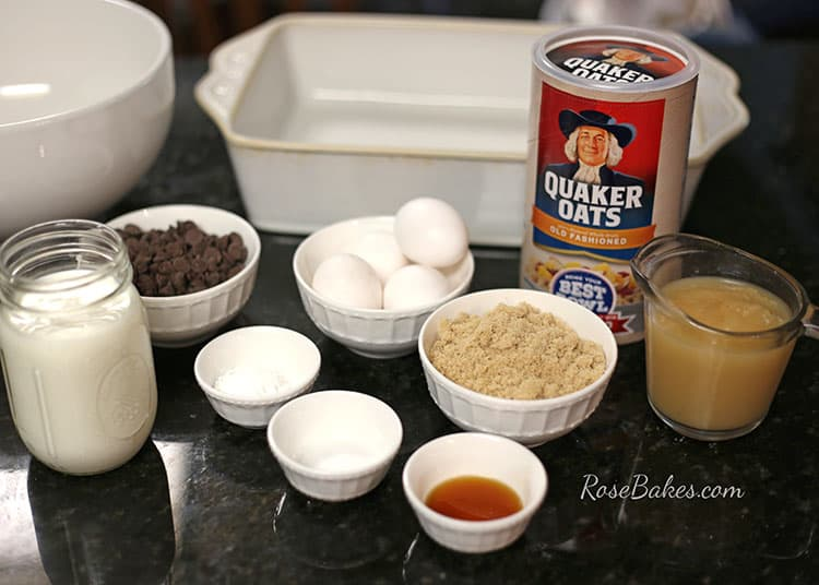 baked-chocolate-chip-oatmeal-ingredients